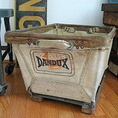 Dandux Industrial Canvas Basket    http://threepotatofourshop.com/item/Dandux-Industrial-Canvas-Basket/3359/p2