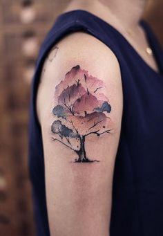 Newtattoo, Chen Jie tree tattoo