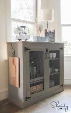 I love this shabby little cabinet! - DIY Coffee Cabinet by Furniture Projects, Home Projects, Diy Furniture, Furniture Plans, System Furniture, Farmhouse Furniture, Classic Furniture, Vintage Furniture, Modern Furniture
