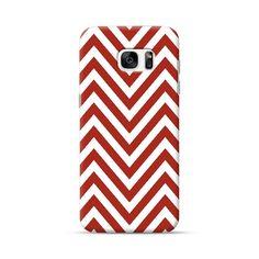 Samsung Galaxy S7 Edge Chevron Rust Red Case