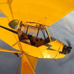 Looping Above the Clouds with Piper J3 Cub, Plane Drawing, Piper Aircraft, Small Airplanes, Bush Plane, Air Space, Above The Clouds, Ciel, Inspirational Photos