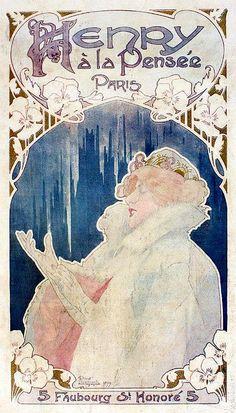 Henri Privat-Livemont   Art Nouveau Poster  -  ca.1899.