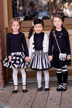 black and white fashion for kids