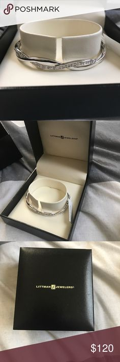 Silver Infinity Bracelet Stunning silver infinity bracelet. Never worn. Still new with tags. I received this as a gift, however I own one just like it already so deciding to sell! Mint condition. littman Jewelry Bracelets