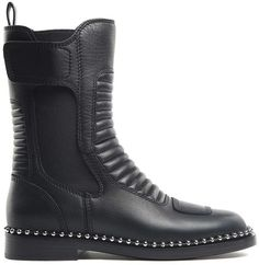 Alexander Wang Mica Metal-balls Leather Motorcycle Boots