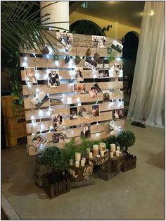 Bridal Shower Decorations 178947785182279184 - wedding photo display wood pallet backdrop Source by dellems Winter Wedding Decorations, Bridal Shower Decorations, 21st Decorations, Reception Decorations, Whimsical Wedding Decor, Winter Wedding Ideas, Engagement Party Decorations, Pallet Backdrop, Our Wedding