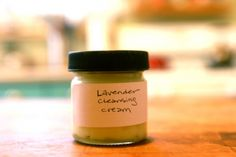 Make your own cold cream:  Creamy Lavender Cleanser. INGREDIENTS - 3 oz jojoba oil, 3 oz vegetable glycerine, 3 oz cornstarch, 5 drops lavender oil. DIRECTIONS - Combine all three in a bowl and stir vigorously until smooth and creamy.  Transferred to an old clean spice jar or small container. To use, rub some into your skin, wipe off with a washcloth and rinse well.  It's easy to rinse off and won't leave a layer of slime on your skin.