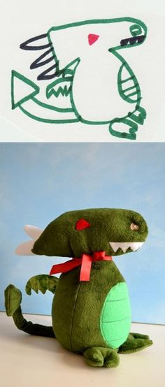 How fun is this! Turn your child's drawing into a stuffed animal.