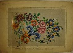 A Floral Berlin WoolWork Pattern Produced By H.F.Müller ~ eBay.de