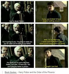 I love Harry. I so wish that this had been put into the movie. He had so many great lines from OOTP.