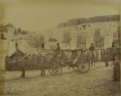 Khedive Tewfik's carriage in Upper Egypt.  Album Khedive Tewfik's Visit to Upper Egypt. Photo by Abdullah Freres. Circa 1880s. ©Rare Books and Special Collections Library.