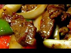 Stir Fry Beef Flank with Black Pepper ( Peppered Beef ) - YouTube