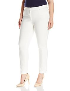 68f2555ae5e Rafaella Womens Plus Size Satin Twill Dress Pant Snow White 12 -- Amazon  most trusted