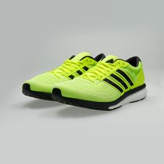 best service 20a3b 10ef4 Adidas Adizero Boston Boost 6 - Volt Dark Grey BB3320 Zapatos De Correr Para  Hombre