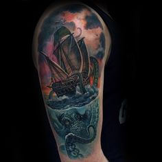100 Kraken Tattoo Designs For Men