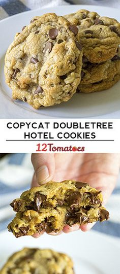 Copycat DoubleTree Hotel Chocolate Chip Cookies (substitute 1 cup of morsels for toffee bits)