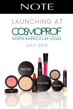 #TakeNOTE: The wait is over! You can finally shop NOTE Cosmetics in the U.S. in July 2016. We're officially launching at Cosmoprof Las Vegas. Stop by our booth if you'll be there!