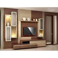 TV Unit design suggestions ideas - Home Decoration ideas in Single APP. Tv Cabinet Design, Tv Wall Design, Ceiling Design, Tv Unit Interior Design, Tv Unit Furniture, Wood Furniture, Furniture Ideas, Tv Unit Decor, Living Room Tv Unit Designs