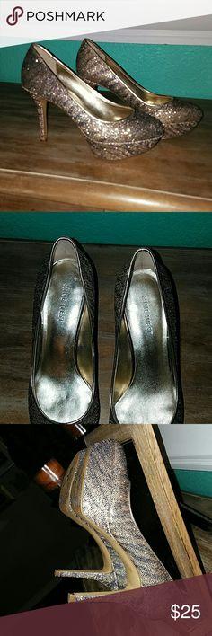 Nine West heels worn 3 times from Macys Shiny-Classy-gold-purple-zebra-statement Nine West Shoes Heels