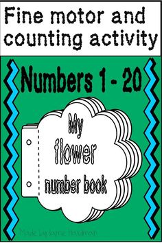 These printables introduce the numbers Great fine motor skills developing through drawing flowers on each page ending up with a booklet that they can look at. Such a fun activity to learn to recognize numbers! Number Sense Activities, Counting Activities, Motor Activities, Kindergarten Learning, Drawing Flowers, Learning Numbers, Math Skills, Fine Motor Skills, First Grade