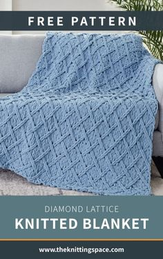 Diamond Lattice Knitted Blanket [FREE Knitting Pattern] Stay warm all winter by making this gorgeous knitted blanket for your bedroom or living room. Winter Knitting Patterns, Free Knitting, Baby Knitting, Baby Blanket Knitting Pattern Free, Knitting Room, Knitting Ideas, Knitting Projects, Knitted Afghans, Knitted Baby Blankets