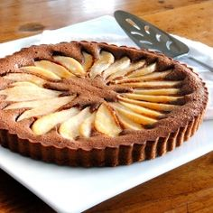 A Chocolate Pear Tart could be a fabulous addition to the usual holiday pie line-up.So easy, so delicious.