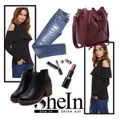 Shein 2/10 by zina1002 on Polyvore featuring polyvore, moda, style, Giorgio Armani, Bobbi Brown Cosmetics, fashion and clothing