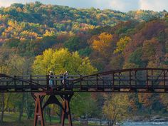 Fall Color viewing - 141 mile Great Allegheny Passage - Cumberland, Maryland to Pittsburgh, PA