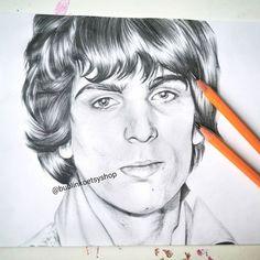 Pencil Drawings, Art Drawings, Drawing Art, Black And White Drawing, Black Pencil, Pink Floyd, Favorite Person, David Bowie, Cool Artwork