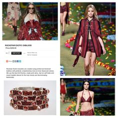 The 2015 #Spring collections are out! We love the #festival inspired collection shown by #TommyHilfiger - Add a Rockstar Exotic OxBlood #bracelet  by #HEET to upgrade this #rockerchic look. Made from #Swarovski, hair-on #calfhides, & #NickelFree #metals- Get 15% off at shopHEET.com w code #LAHEET. #kendalljenner #springtrends #trend #fashion #spring #boho #leather #kardashian #fashionweek #runway #rocknroll #vintage
