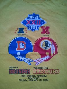 Super bowl XXII 1988 Denver Broncos Washington Redskins