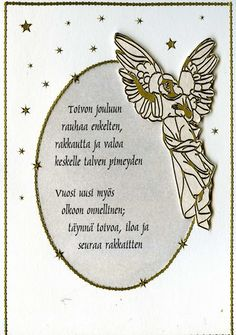 White Christmas, Christmas Crafts, Merry Christmas, Diy Cards, Origami, Diy And Crafts, Angel, Holiday, Words