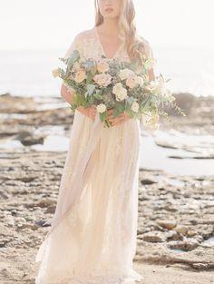 Romantic Coastal Bridal Inspiration | Wedding & Party Ideas | 100 Layer Cake