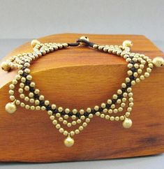 Romany Golden Swirl Macrame Anklet by handmadethaicountry on Etsy, $15.00