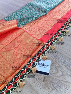 # If you are within Bangalore: Choose a design from www.krishnetassels.com/tassels & visit us in person. Price ranges from ₹ 500 ~ 6000. Whatsapp or call on 9916253832 incase of any queries. # If you are from outside Bangalore: Choose an 'easy to stitch' tassel lace design from www.krishnetassels.com/lace The chosen lace is custom-crafted to suit your saree colours & delivered to your doorstep. Price ranges from ₹ 500 ~ 5000. Whatsapp or call on 9916253832 incase of any queries. Bridal Silk Saree, Saree Wedding, Silk Sarees, Saree Tassels Designs, Saree Kuchu Designs, Crochet Designs, Crochet Ideas, Signature Design, Lace Design