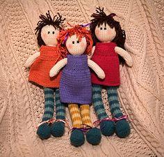 knitted dolls Adorable Ragdoll by Debbie Bliss - Free pattern on Ravelry Knitted Rag Dolls Free Patterns, Crochet Dolls, Knitting Patterns Free, Baby Knitting, Free Knitting, Knitted Bunnies, Knitted Animals, Stuffed Animal Patterns, Amigurumi Doll