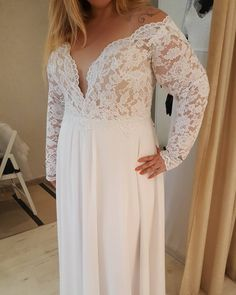 Long sleeve plus size wedding dresses sometimes have a v-neck line as a fashion element of the design. We offer fuller figured brides totally custom plus size wedding gowns as well as replicas of haute couture dresses that are affordable and less expensive than a couture dress but still have a couture look. Get pricing on custom wedding gown designs & #replicas when you visit our web page at www.dariuscordell.com
