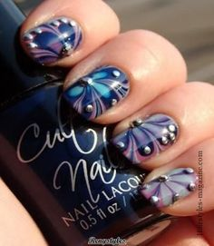 Beautiful Water Marble Nail Art Designs - Reny styles
