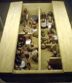 Model piekarni i browaru z czasów XI dynastii (około2200-1990 p.n.e.) na licencji Creative Commons autor Keith Schengili-Roberts źródło Wikipedia