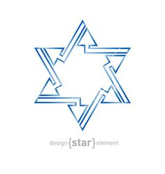 abstract-star-of-david-with-arrows-on-white-vector