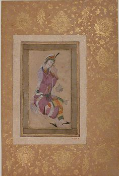 Seated Woman, late 16th-early 17th cent Iran