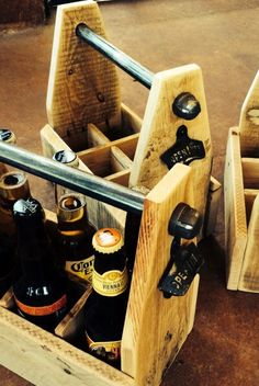 Burly's Beverage Box Coolest microbrew beer carrier... EVER! Comes with a built in bottle opener...SWEET!
