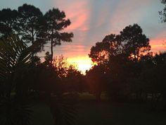 Autumn sunsets are beautiful