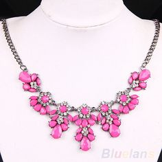 Bluelans Women's Vintage Flower Crystal Bubble Bib Choker Statement Necklace 4 Colors necklaces & pendants //Price: $US $1.82 & FREE Shipping //         Condition: New without tags       Material: Alloy/Crysta;(Lead Free;Nickel Free)       Size(about): Total length 46cm,Extension chain 6cm;       Color :4 Color to choose, Yellow, Green, Blue, Rose-red            Package included       1 x Necklace                 #cheap_jewelry