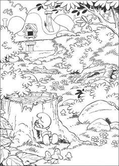 Schlümpfe Ausmalbilder. Malvorlagen Zeichnung druckbare nº 11