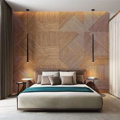 Everything about this bedroom makes me happy via dyckvisser- bed, bedroom, design