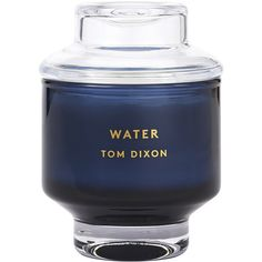 Tom Dixon Scented Candle - Water - Medium ($119) ❤ liked on Polyvore featuring home, home decor, candles & candleholders, blue, filler, inspirational home decor, blue home decor, fragrance candles, blue candles and tom dixon candles
