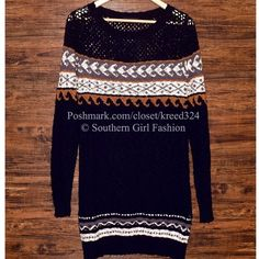 FREE PEOPLE Dress Sweater Tunic Eyelet Crochet Top Size M/L. New with tags. $176 Retail + Tax.  Textured, soft and cozy cotton sweater dress with striped ribbed hems.  Semi sheer/unlined.  By Eternal Sunshine Creations for Free People.   Imported.  ❗️ Please - no trades, PP, holds, or Modeling.    Bundle 2+ items for a 20% discount!    Stop by my closet for even more items from this brand!  ✔️ Items are priced to sell, however reasonable offers will be considered when submitted using the…