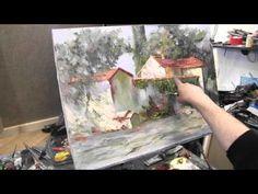 Итальянская деревня, курсы живописи и рисунка в Москве и Питере, рисование онлайн, Сахаров - YouTube