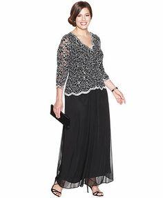 Patra Plus Size Dress Sleeveless V Neck Evening Gown